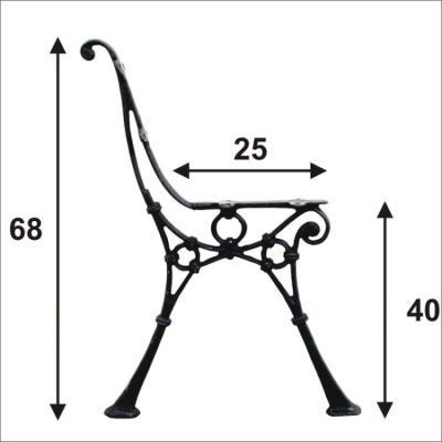 Noga do ławki średnia (4deski)