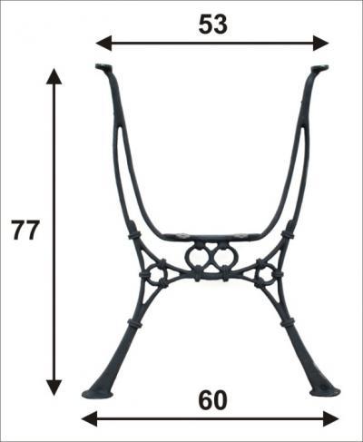 Noga do stolika ogrodowego wysoka
