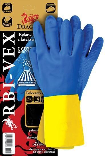 Rękawice gumowe rbi-vex rozmiar 8