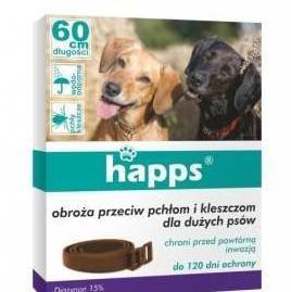 Obroża dla dużych psów happs, do zwalczania pasożytów