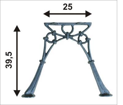 Noga do ławki bez oparcia mini, 2 deski