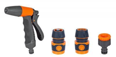 Zraszacz pistoletowy plastikowy + 3 złączki tpr