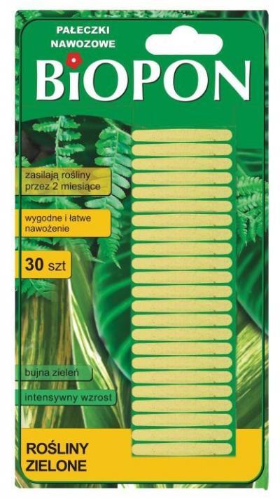 Nawóz pałeczki nawozowe do roślin zielonych 30 szt.