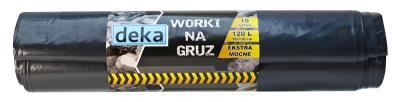Worki na gruz ekstra mocne czarne 70*100cm 120l a10