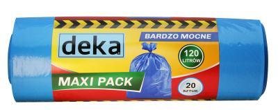 Worki maxi pack bardzo mocne niebieskie 120l a20