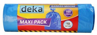 Worki maxi pack bardzo mocne niebieskie 160l a10