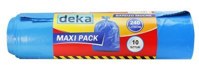 Worki maxi pack bardzo mocne niebieskie 240l a10