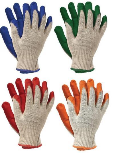 Rękawice ogrodniczki powlekane gumą niebieskie 450