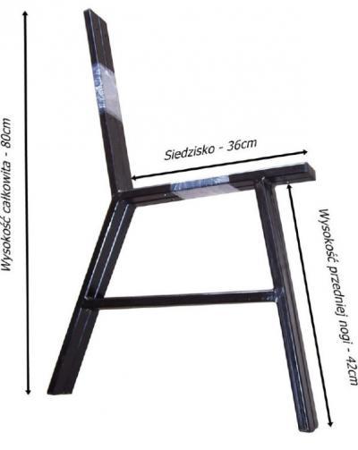 Noga stalowa do ławki kpl. 2szt