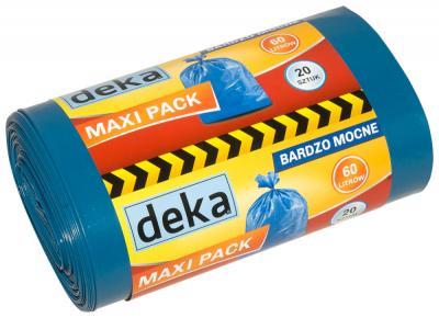 Worki maxi pack bardzo mocne niebieskie 60l a20