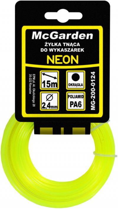 żyłka do wykaszarki okrągła neon 1,3mm 15m