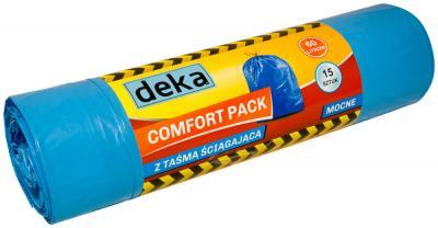Worki comfort pack mocne niebieskie z taśmą 60l a15