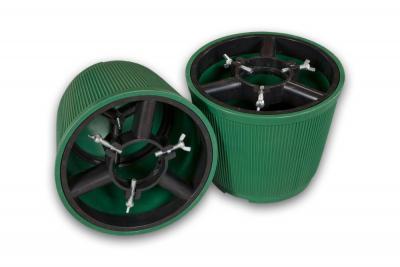 Stojak pod choinkę - donica zielona