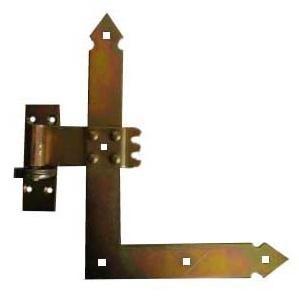 Zawias drzwiowy kątowy ocynkowany 400mm 2 sztuki