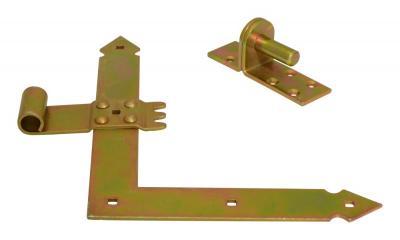 Zawias drzwiowy kątowy ocynkowany 250mm 2 sztuki
