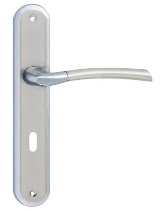 Klamka zorba nikiel-chrom 72 na klucz