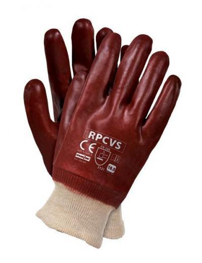 Rękawice ochronne oblewane pcv rpcvs, hugo
