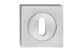 Szyld kwadrat z kołem nikiel szczotkowany na klucz
