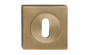 Szyld kwadrat z kołem patyna na klucz