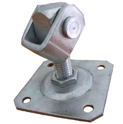 Zawias regulowany 20 mm z płytką 100*100*4mm