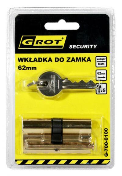 Wkładka bębenkowa 31/31mm 62mm mosiądz 5 kluczy