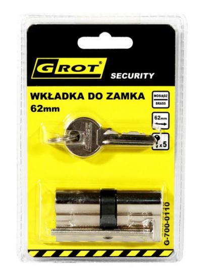 Wkładka bębenkowa 31/31mm 62mm nikiel 5 kluczy