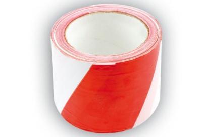 Taśma ostrzegawcza biało-czerwona 75-80mm*100m