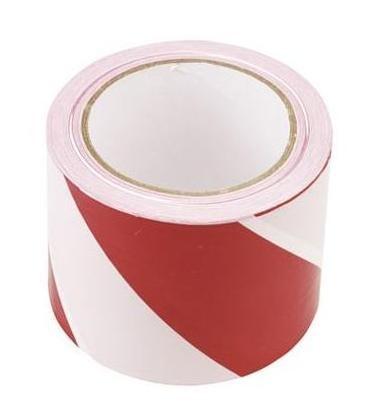Taśma ostrzegawcza biało-czerwona 75-80mm*500m