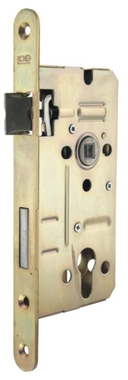 Zamek wpuszczany lob 72/50mm na klucz