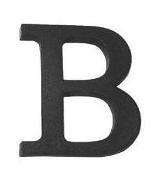 Litera z tworzywa 100mm f
