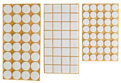 Podkładka filcowa blister biała 20*20mm - 20szt