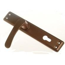 Klamka drzwiowa bramowa wkład brązowa