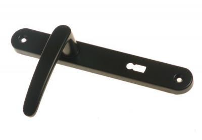Klamka malowana czarna 72mm na klucz