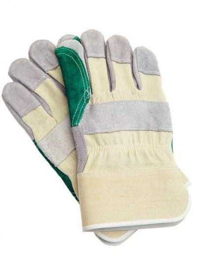Rękawice wzmacniane skórą bydlęcą dwoinową rbpower/pp-turbo