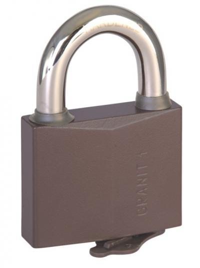 Kłódka zasuwkowa granit-1 z atestem, antywłamaniowa 4 klucze