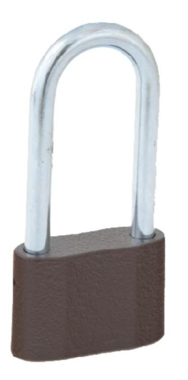 Kłódka zasuwkowa żeliwna, 3 klucze , wydłużona ks - 52
