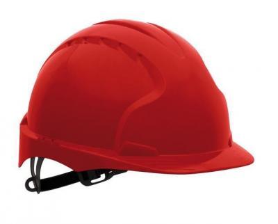 Jsp hełm ochronny kas-evo-3 c czerwony