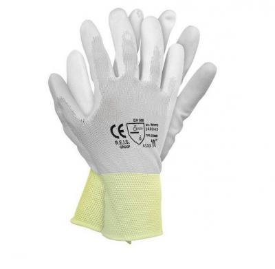 Rękawice z nylonu powlekane poliuretanem rnypo 8