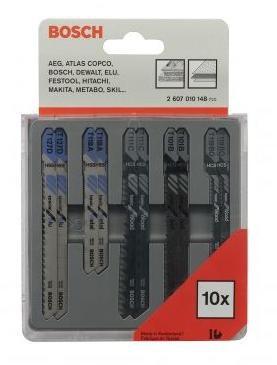 Zestaw brzeszczotów do wyrzynarki t 10szt. metal