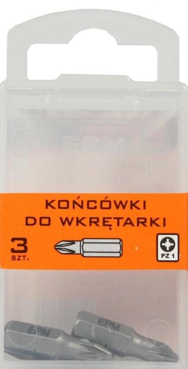 Końcówki do wkrętarki 25mm 3szt. pz1
