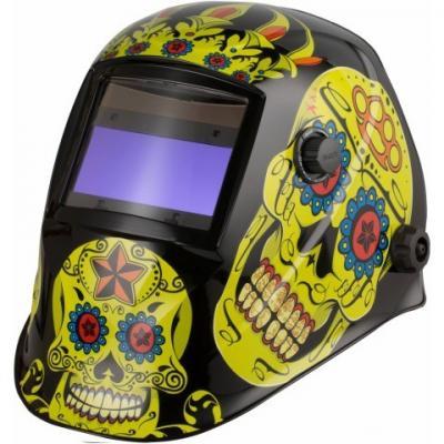 Przyłbica automatyczna aps-510g flower skull