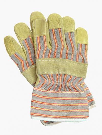 Rękawice wzmacniane skórą bydlęcą + dwoina 220, rs rdz
