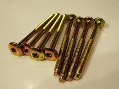Wkręt meblowy ocynkowany łeb płaski 6*70mm