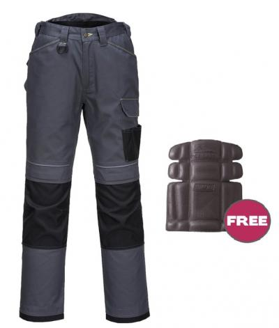 Spodnie ochronne do pasa t601 szaro-czarne rozmiar 60