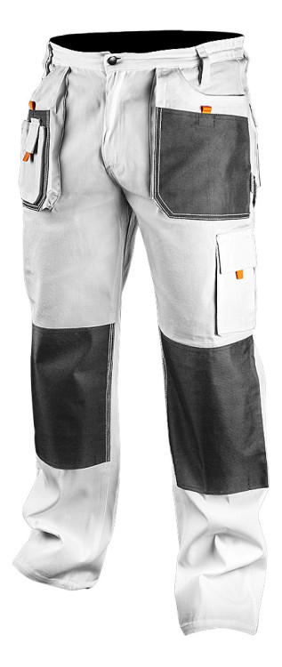 Spodnie robocze białe l/52