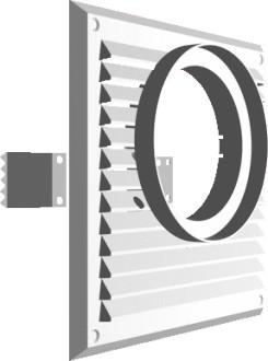 Kratka do pochłaniacza 215*215mm fi100mm biała