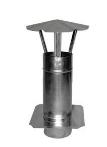Kominek wentylacyjny ocynkowany z płytą 150mm