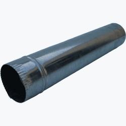 Rura piecowa czarna 1mb z blachy 1mm 100mm
