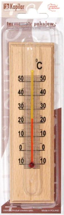 Termometr pokojowy drewniany mały