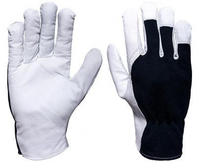Rękawice ocieplane ze skóry koziej licowej rltoper/royal 9